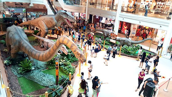 Unique Decoration Ideas Of Dinosaur For Shopping Malls